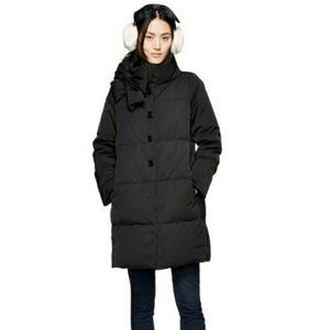 Kate Spade Bow Black Down Puffer Long Coat